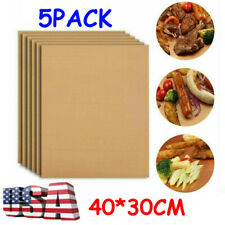 5Pack Bbq Grill Mats Copper Non Stick Baking Mat Bake Cooking Sheet Liner Pads