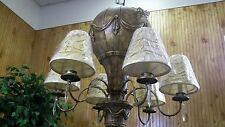 Chandelier - 6 Ceiling Light Hot Air Balloon Lighting Fixture Ethan Allen Rare