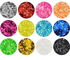 12 Mixed Color Shiny Glitter Nail Tool Acrylic Powder Sexangle Shape NS0044