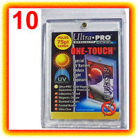 10 Ultra Pro ONE TOUCH MAGNETIC 75pt UV Card Holder Display Case Two Piece 81910