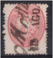 LOMBARDO VENETO 1863 soldi 5 rosa vivo n° 38a CON ANNULLO LINEARE € 100,00