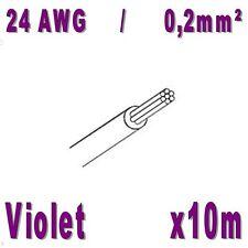 Fil de cablage 24AWG / 0,2mm² Violet 10m