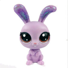 "2"" Littlest Pet Shop LPS Cute Purple Rabbit Sparkle Spectacular FigureToy Gift"