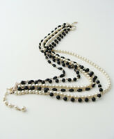 Vintage JAPAN Faux Pearl Beaded Multi-Strand Necklace