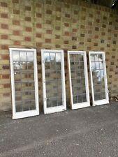 More details for job lot of 4 reclaimed leaded light panel wooden window