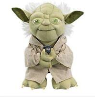 "Star Wars The Force Awakens Yoda Talking Plush 8"" Toy New Disney NEW"