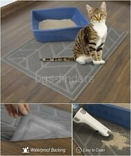 Cat Litter Box Mat Small Pet Dog Food Tray Extra Large Rectangular Cleaning Mats