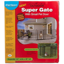 Carlson Super Gate with Pet Door give your pet their own safe space outdoors