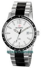 OLYMPIC Swiss Watches LTD,TACHYMETER, St/SteelCase&Bnad,Date,WR100,Mens,29375