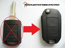 2 BUTTON FLIP KEY CASE UPGRADE FOR VAUXHALL OPEL CORSA C MERIVA COMBO REMOTE FOB