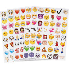 4 Sheets 48 Die Emoji Smile Stickers Notebook Message Fun Cartoon Toys Kids Cute