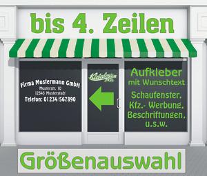 4. Zeilen Aufkleber Beschriftung 50-140cm Werbung Sticker Werbebeschriftung LkW