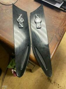 Toyota GT86 Wing vent garnish trims - Pair - Black - funky logo instead of badge
