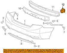 HONDA OEM 12-15 Civic Rear Bumper-Bracket Right 71535TR0A00ZZ