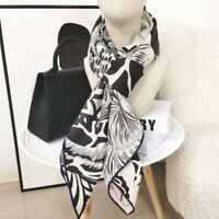 Cashmere Silk Thin Scarf Double-sided Print Luxury Giraffe Shawl Kerchief 135cm