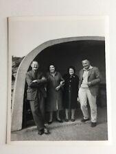 Vintage BW Real Photograph #AF : Couples : Concrete Shelter
