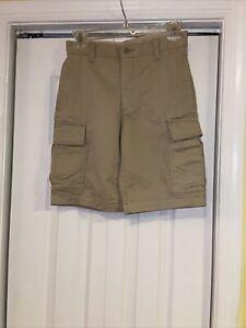 Gap Kids Boys Flat Front Cargo Beige Shorts 16 Slim--NWOT