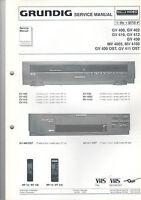Grundig Service Anleitung Manual GV 400 402 410 412 430 MV 4005 4105  B447