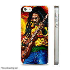 BOB MARLEY JAMAICA ART CASE FIT IPHONE 4 4S 5 5S 5C 6 6S 7 8 SE PLUS X S