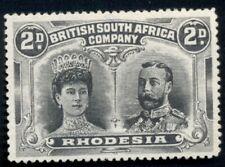 RHODESIA #103b, 2p gray and black, p. 15, unused no gum, VF, rare Scott $1,000