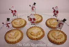 Navidad Cupcake O Carne Picada Pastel caketoppers 6 X Muñeco De Nieve 6 X Santa