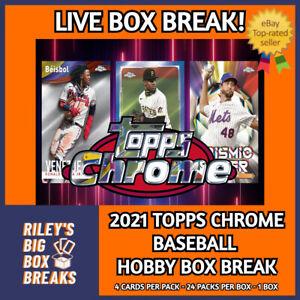 2021 TOPPS CHROME HOBBY BOX BREAK #167 - PICK YOUR OWN TEAMS!