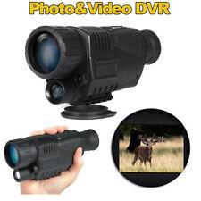 BOBLOV 5x40 Digital Night Vision Monocular 8GB Video Photo DVR 940nm Scope Black
