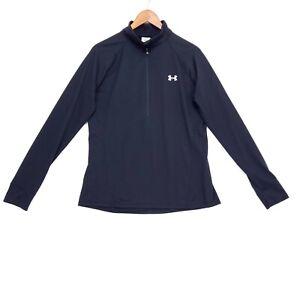 Under Armour Women's Size L Black Tech 1/2 Zip Long Sleeve Shirt