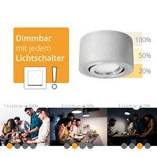 Decken-Spot flach Alu gebürstet, schwenkbar, fourSTEP Dim LED 5W neutralweiß