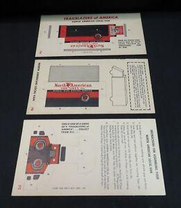 VTG 7A-C Trailblazers of America Punch Cards, Shredded Wheat, Original/Unpunched