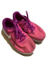 Girls Nike Tanjun Print (PS) AV8859-500 Violet Pink White Shoes Size 2Y NEW