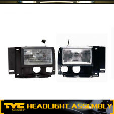 TYC 2pc Headlight Lamp Assembly Left Right Set For 1989-1990 Ford Bronco II