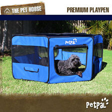 NEW CozyHome Small soft petpal portable travel foldable exercise playpen - Blue