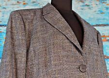 Zanella Women's Blazer Sz 16 Wool Blend Career Colorful Window Pane Career Italy