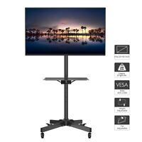 """Mobile TV Cart Floor Stand Mount Home Exhibition Trolley for 23""""-55"""" Television"""