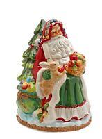 "NEW Appletree Design Fruitful Holiday Santa With Tree 11.5"" Ceramic Cookie Jar"