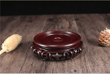 Rosewood Round Base Display stand For vase teapot flowerpot Figurine 7.7 inch