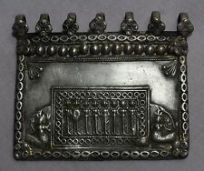 OLD VINTAGE TRIBAL SOUTH INDIAN GODDESS SOLID SILVER AMULET PENDANT S 598