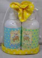 New Dionis Baby Wash & Baby Lotion with Goats Milk 8 oz Gift Bag Extra Gentle