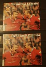 ABHAZIA FOOTBALL BECKHAM &CANTONA 2 BLOCKS MNH