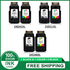 2pk Printer Ink Cartridges Black & Color For Canon 210 XL 211 XL 245XL 246XL