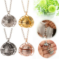 Expanding Photo Locket Necklace Pendant Angel Wings Gifts Jewelry Decoration AU