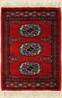 Rugstc 1.5x2  Bokhara Jaldar Red Area Rug,Genuine Hand-Knotted, Wool Pile