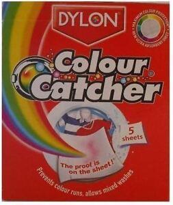 DYLON COLOUR CATCHER CATCH LAUNDRY MACHINE COLOUR RUNS PREVENTER 5 SHEETS