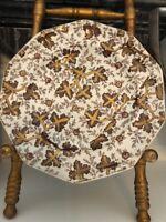 Rare Antique E Walley Palissy Copper Lusterware 1850 Brown Transferware Plate