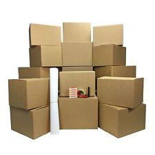 Uoffice Storage Box Kit 18 Mediumlarge Boxes Combo Packing Supplies Amp Labels