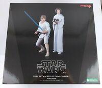 Star Wars A New Hope Luke Skywalker Princess Leia Kotobukiya ARTFX+