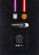 CARLING LEAGUE CUP FINAL 2010 ASTON VILLA v MAN UTD MINT PROGRAMME MANCHESTER