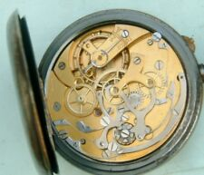 Watchmakers Complicated chronograph pocket watch Nice movement for repair or