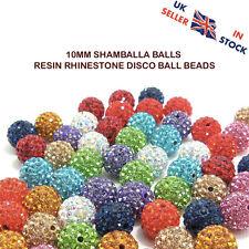 10mm Czech Crystals Ball Stud Shamballa Disco Beads